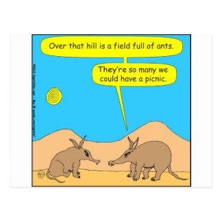 309匹のアリクイのピクニック漫画 ポストカード