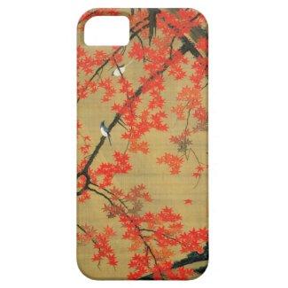 30. 紅葉小禽図、若冲のかえで及び小さい鳥、Jakuchū Case-Mate iPhone 5 ケース