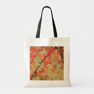 30. 紅葉小禽図、若冲のかえで及び小さい鳥、Jakuchū トートバッグ