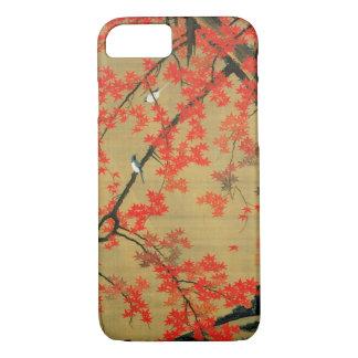 30. 紅葉小禽図、若冲のかえで及び小さい鳥、Jakuchū iPhone 8/7ケース