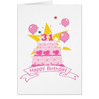 31歳のお誕生日ケーキ カード
