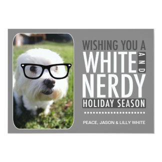 311の相互ガラスの白く真面目な休日カード カード