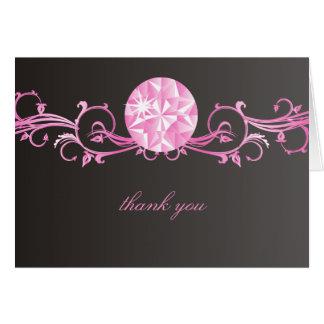 311ピンクのダイヤモンドの光輝 カード