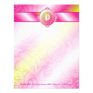 311ピンクのライムの砂糖のモノグラム レターヘッド