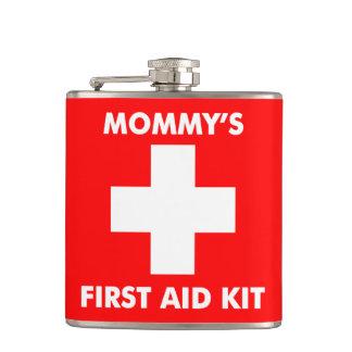 311人のお母さんの救急処置のフラスコの赤 フラスク