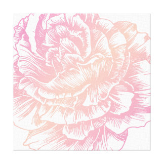 311人のLe Plush Fleurのクリーミーなピンク キャンバスプリント