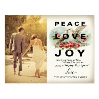 311平和愛喜びのヴィンテージのクリスマスの郵便はがき ポストカード
