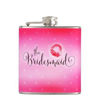 311新婦付添人のピンクのキスのフラスコ フラスク