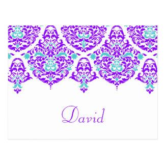 311月曜日Cherieデイヴィッドのプラム水の名刺 ポストカード