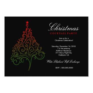 311魔法のクリスマスツリーの招待 カード