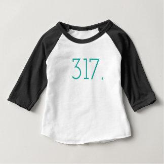 317市外局番-インディアナポリスのTシャツ ベビーTシャツ