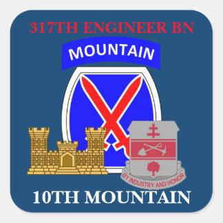 317THエンジニアのBN.第10山のステッカー スクエアシール