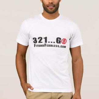 321は…行きます! 適合および大胆不敵 Tシャツ