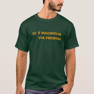 33のEのマグノリア -- FREMONTを経て Tシャツ