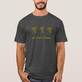 333 -天使数、人のTシャツ、木炭 Tシャツ