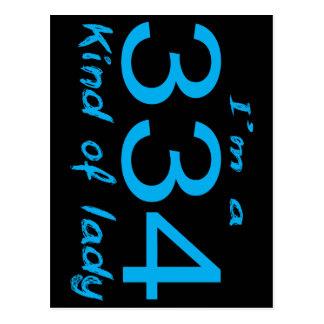 334女性 ポストカード