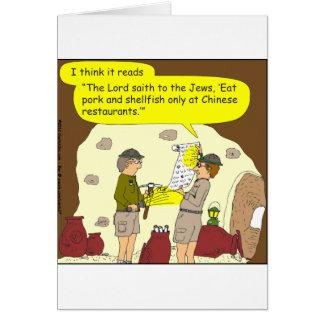 335ポークおよび貝の漫画 グリーティングカード