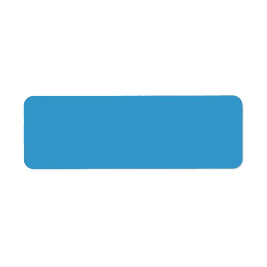 3399CC青い無地の背景のテンプレート 返信用宛名ラベル