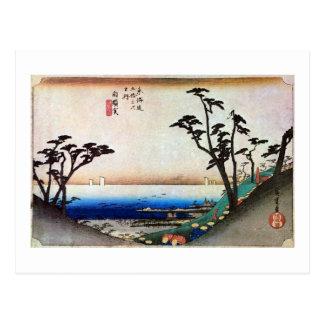 33. 白須賀宿, 広重 ポストカード