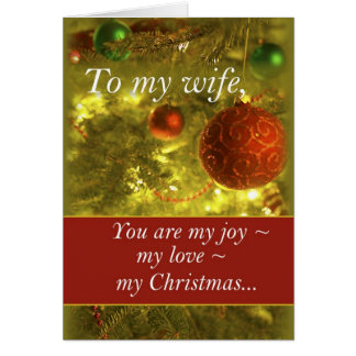 3400 Wife Golden Christmas Tree カード