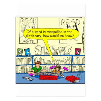 346ワードは辞書色の漫画で間違って綴りました ポストカード