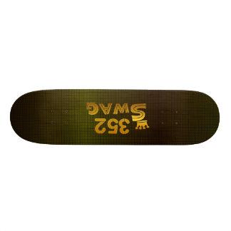 352市外局番のスワッグ 21.6CM オールドスクールスケートボードデッキ