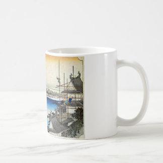 35. 吉田宿, 広重 コーヒーマグカップ