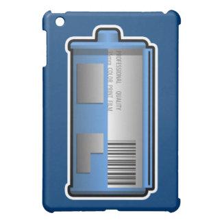 35mmのフィルムの小さなかんのiPadの場合(青い背景) iPad Miniカバー