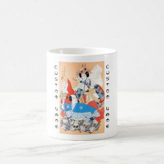 36のKabuki俳優のポートレート- 2人のダンサー コーヒーマグカップ