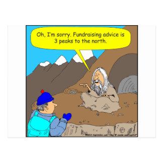 384人の教祖のfundrasiingアドバイスの漫画 ポストカード