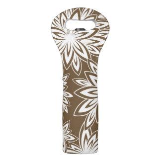 39ブラウンのシックなワインTOTE_WHITEの花柄 ワイントート