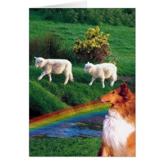 3. アイルランドの素晴らしい流れ及び牧草地St pattys day カード