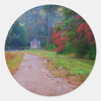 """3""""ステッカー-ジョンオリバーの小屋- Cadesの入江、TN ラウンドシール"""