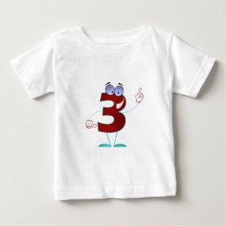 3-_- (白い) .png ベビーTシャツ