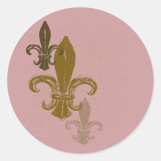 3 (紋章の)フラ・ダ・リ ラウンドシール