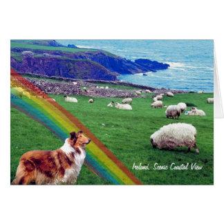 3. 素晴らしいアイルランドの海岸のセントパトリックの日カード カード