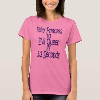 3.2秒の邪悪な女王への妖精のプリンセス Tシャツ
