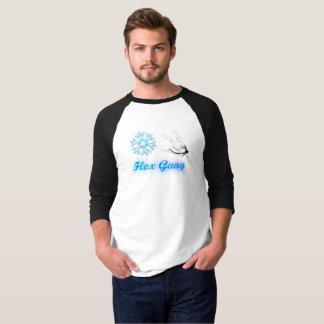 3/4枚の屈曲の集団のTシャツ Tシャツ