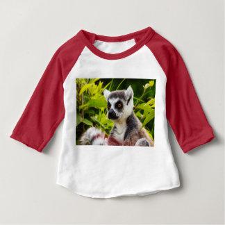 3/4枚のraglanのベビーのTシャツのマダガスカルのlemur ベビーTシャツ