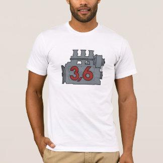 3,6のエンジンのTシャツ、独身のな前部イメージ Tシャツ