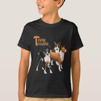 3 basenjis tシャツ