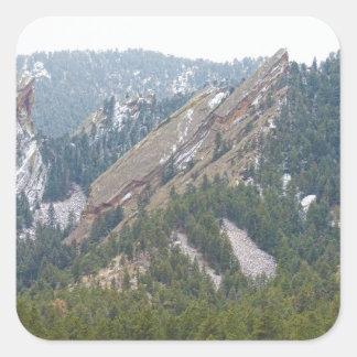 3 Flatironsの大きい石コロラド州 スクエアシール