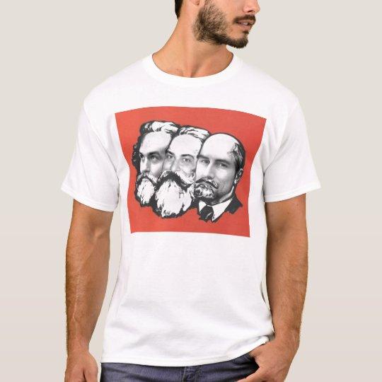 3 marxists tシャツ