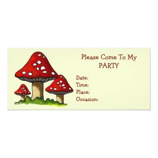 3 Toadstoolsのパーティの招待状: 元の芸術 カード