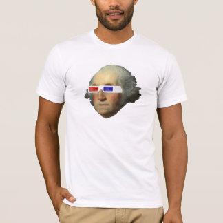 3Dのジョージ・ワシントン Tシャツ