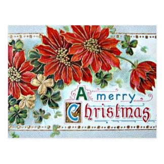 3Dのメリークリスマス ポストカード