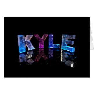 3Dの一流のKyleはつきます(写真) カード