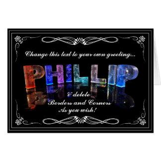 3Dの一流のPhillipはつきます(写真) カード
