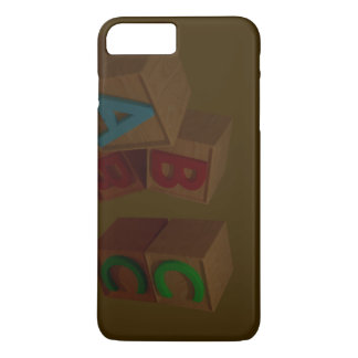 3Dアルファベットのブロック iPhone 8 PLUS/7 PLUSケース