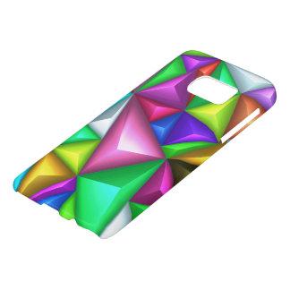3Dカラフルな多角形の背景のSamsung S7の箱 Samsung Galaxy S7 ケース